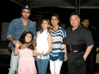 Ranbir Kapoor and family snapped post dinner at Yuatcha Bandra