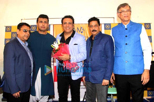 Govinda, Sonu Nigam, Alka Yagnik, Abhijeet Bhattacharya, Sameer seen at Anand-Milind's bash