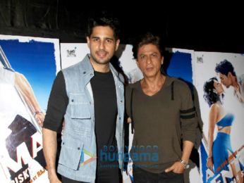 Shah Rukh Khan, Sonakshi Sinha, Aditya Roy Kapur and others at 'A Gentleman' screening hosted by Sidharth Malhotra