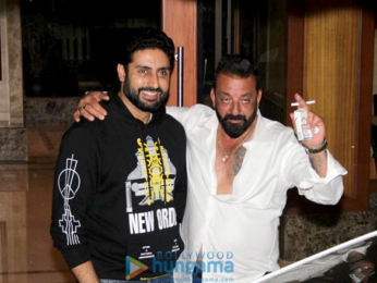 Abhishek Bachchan snapped at Sanjay Dutt's birthday bash