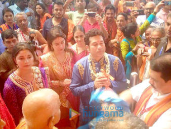 Aishwarya Rai Bachchan and Sachin Tendulkar family visits the GSB Ganesha in Wadala