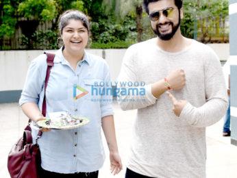 Arjun Kapoor & Anshula Kapoor snapped post Rakshabandhan celebrations at Sanjay Kapoor's house