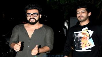 Arjun Kapoor, Mohit Marwah, Kunal Rawal and Aarti Shetty snapped post dinner in Bandra