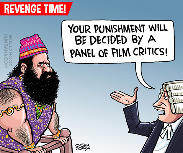 Bollywood Toons Ram Rahim vs Film critics!