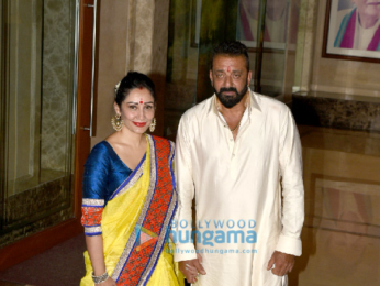 Bollywood celebs visit Sanjay Dutt's residence to take Lord Ganesha's blessings