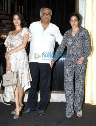 Boney Kapoor, Jahnvi Kapoor and Sonu Sood snapped attending Sridevi's birthday bash at Arth in Bandra