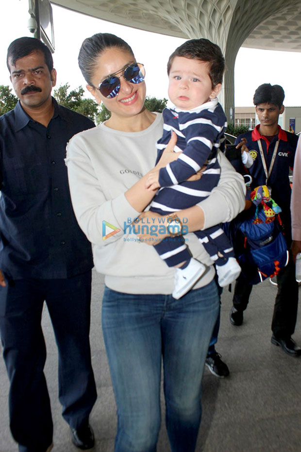 Check-out-Kareena-Kapoor-Khan--Taimur-while-leaving-for-Delhi-for-Veere-Di-Wedding