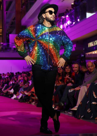 Check out Ranveer Singh added more sparkle and colour with his rainbow jacket at the Lakme Fashion Week 2017 (1)