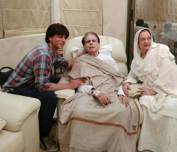 Check out Shah Rukh Khan visits a recovering Dilip Kumar and wife Saira Banu at their residence (1)