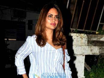 Esha Gupta snapped post salon session in Juhu