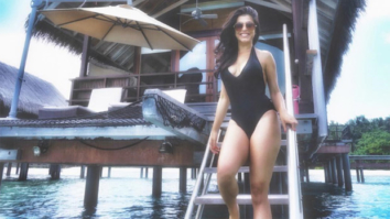 HOT! Shenaz Treasury sizzles in a black swimsuit in Maldives; asks her fans to join her for a swim