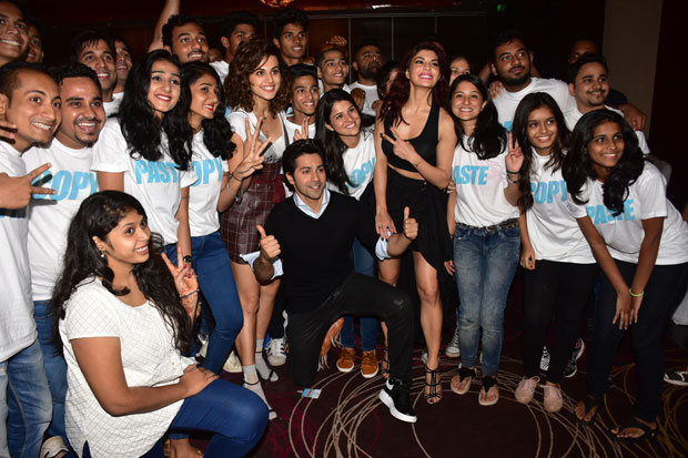 Here are 100 pairs of real twins attend the trailer launch of Judwaa 2-2