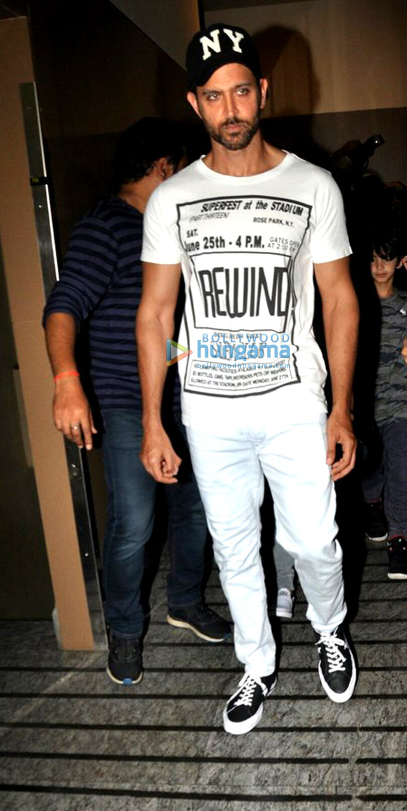 Hrithik Roshan & Sussanne Roshan with kids snapped post a movie screening at PVR Juhu