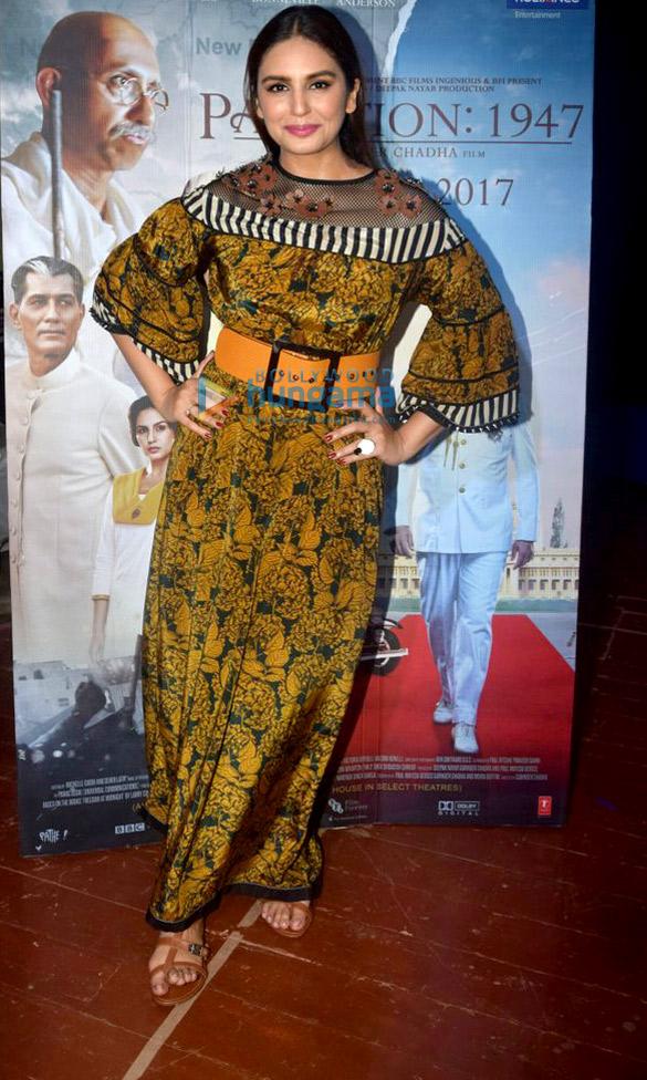 Huma Qureshi promotes 'Partition: 1947' at Poddar college fest