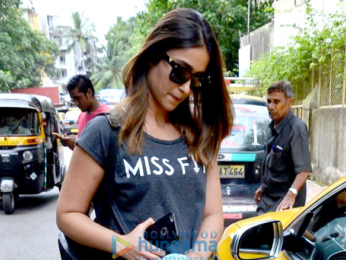 Ileana D'Cruz snapped post meeting at Matrix office