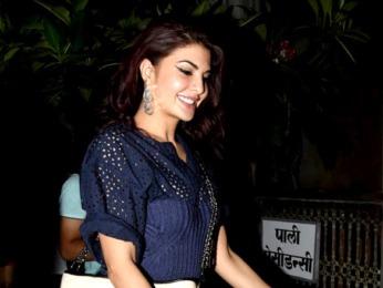 Jacqueline Fernandez snapped post dinner at Pali Bhavan