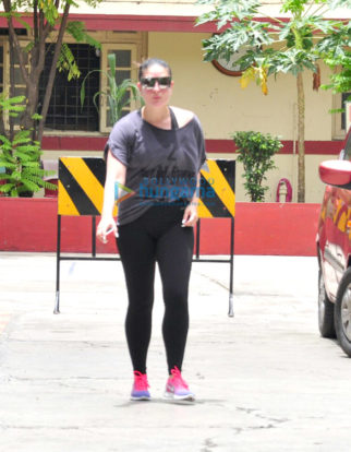 Kareena Kapoor Khan snapped outside her gym