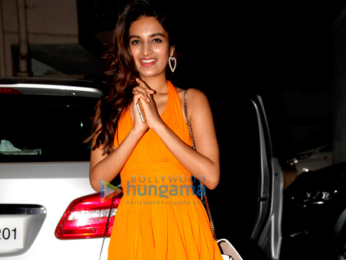 Nidhhi Agerwal snapped on her birthday in Bandra
