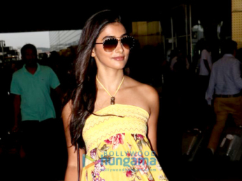 Pooja Hegde and Yami Gautam snapped at the airport