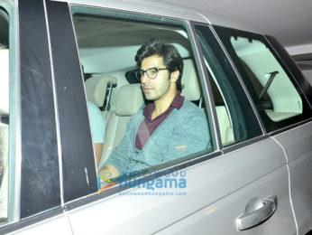 Ranbir Kapoor, Arjun Kapoor, Aditya Roy Kapur, Varun Dhawan snapped post dinner at Karan Johar's house