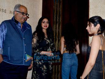 Rani Mukerji, Karan Johar and Farah Khan arrive at Manish Malhotra house for Sridevi's birthday bash