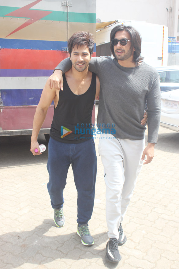 Ranveer Singh and Varun Dhawan snapped at Mehboob studios in Bandra