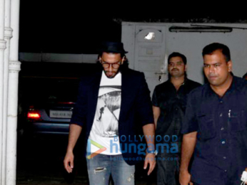 Ranveer Singh snapped post dinner at grandparents house in Bandra