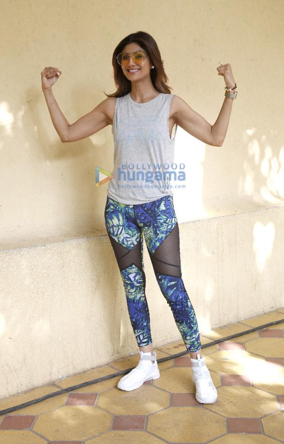 SNAPPED: Shilpa Shetty arrives for a publication shoot