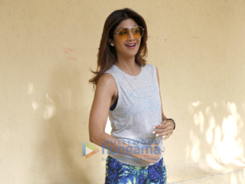 SNAPPED: Shilpa Shetty arrives for a publication shoot