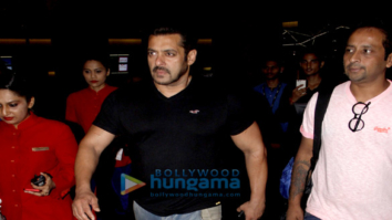 Salman Khan, Alvira Khan Agnihotri and Arpita Khan arrive back in Mumbai