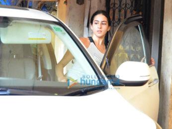 Sara Ali Khan snapped post gym in Khar