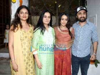 Shraddha Kapoor and family snapped during Ganesh Chaturthi celebrations