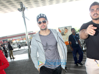 Sidharth Malhotra snapped as he leaves to promote his film 'A Gentleman' in Pune