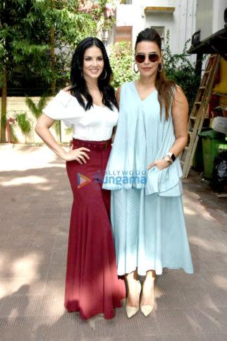 Sunny Leone shoots for No Filter Neha with Neha Dhupia