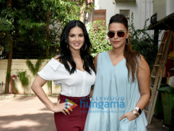 Sunny Leone shoots for No Filter Neha with Neha Dhupia