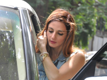 Sussanne Roshan snapped post salon session in Juhu