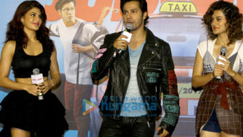 Varun Dhawan, Jacqueline Fernandez & Taapsee Pannu launch the trailer of 'Judwaa 2'