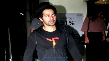Varun Dhawan and Natasha Dalal snapped post 'Annabelle: Creation' screening