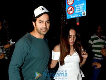 Varun Dhawan and Natasha Dalal snapped post dinner at Yautcha