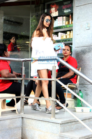 Malaika Arora snapped at Freeda saloon