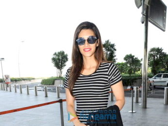Kriti Sanon, Ameesha Patel and Manish Paul snapped at the airport