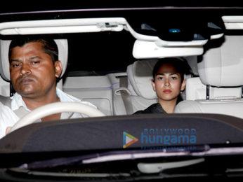 Shahid Kapoor and Mira Kapoor snapped at Karan Johar's house