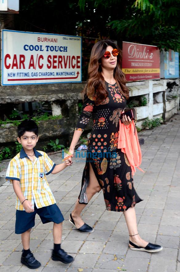 Shilpa Shetty snapped outside Kromakay salon