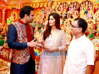 Katrina Kaif & Mammootty at the Navratri celebrations organized by Kalyan Jewellers
