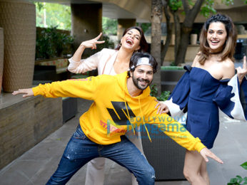 Varun Dhawan, Jacqueline Fernandez and Taapsee Pannu snapped promoting their film Judwaa 2