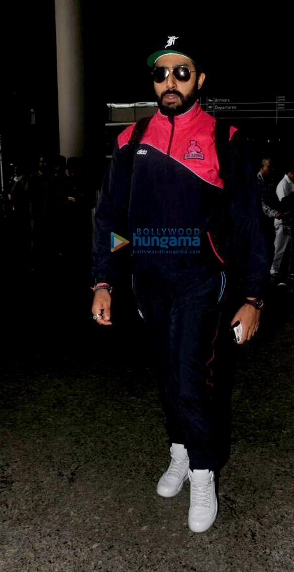 Abhishek Bachchan arrives at the Mumbai airport