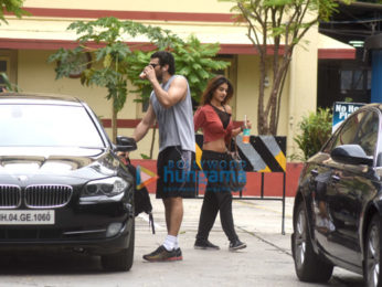 Aditya Roy Kapur and Nidhhi Agerwal snapped post gym