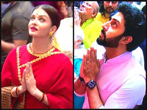 Aishwarya Rai Bachchan looks stunning in red saree at Lalbaugcha Raja-2