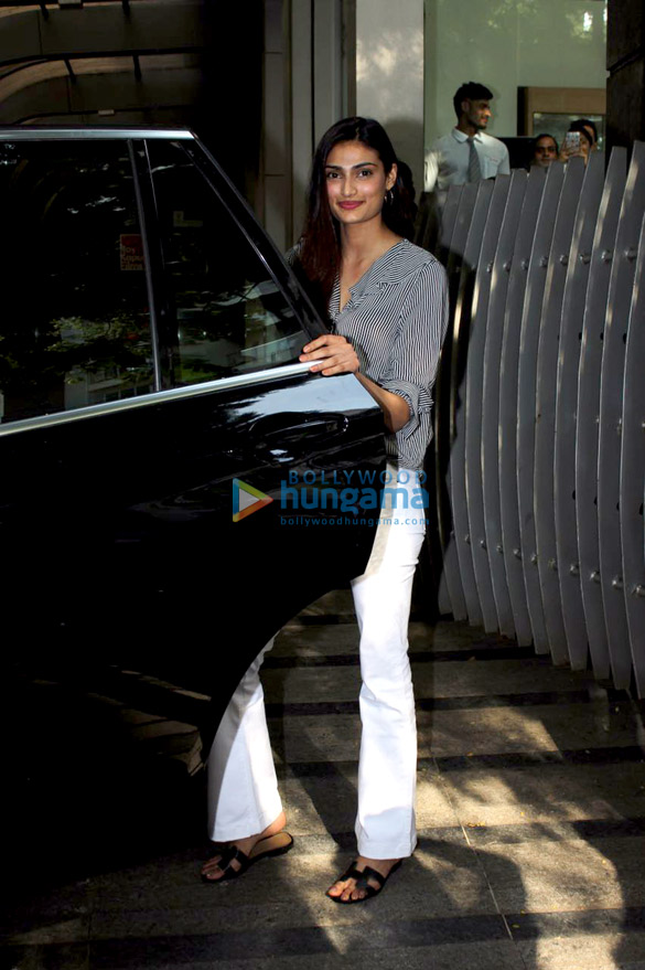 Athiya Shetty snapped at Ashutosh Gowariker's office