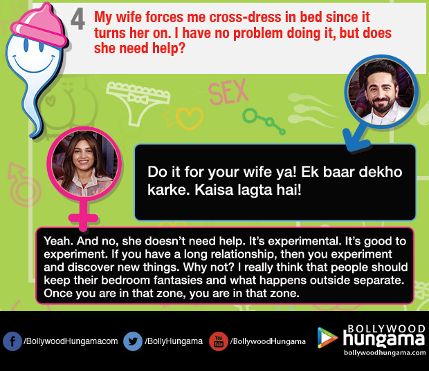Ayushmann Khuranna and Bhumi Pednekar turn sexperts for these hilarious and weird queries on sex_04